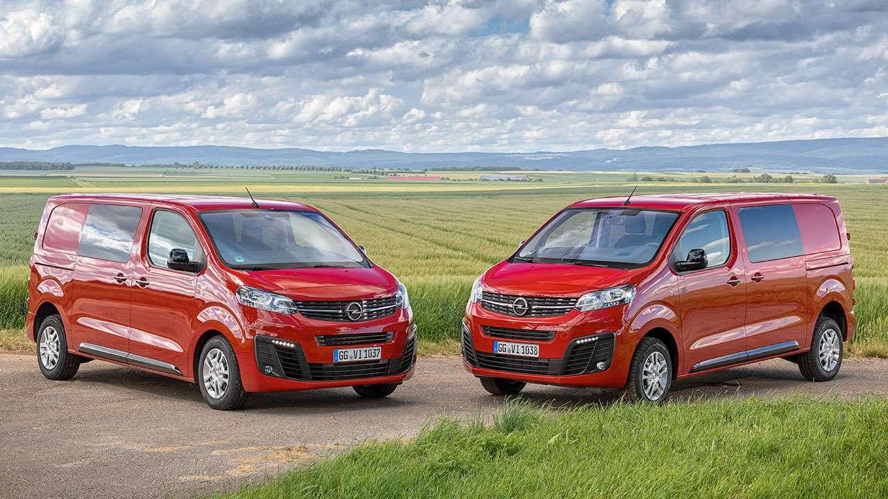 Два фургон Опель Виваро 2020-2021