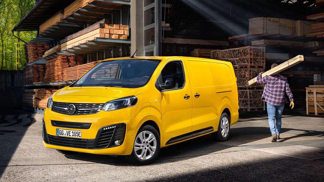 Желтый Opel Vivaro-e