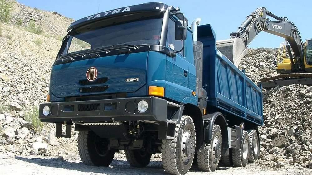 Tatra T815 в работе
